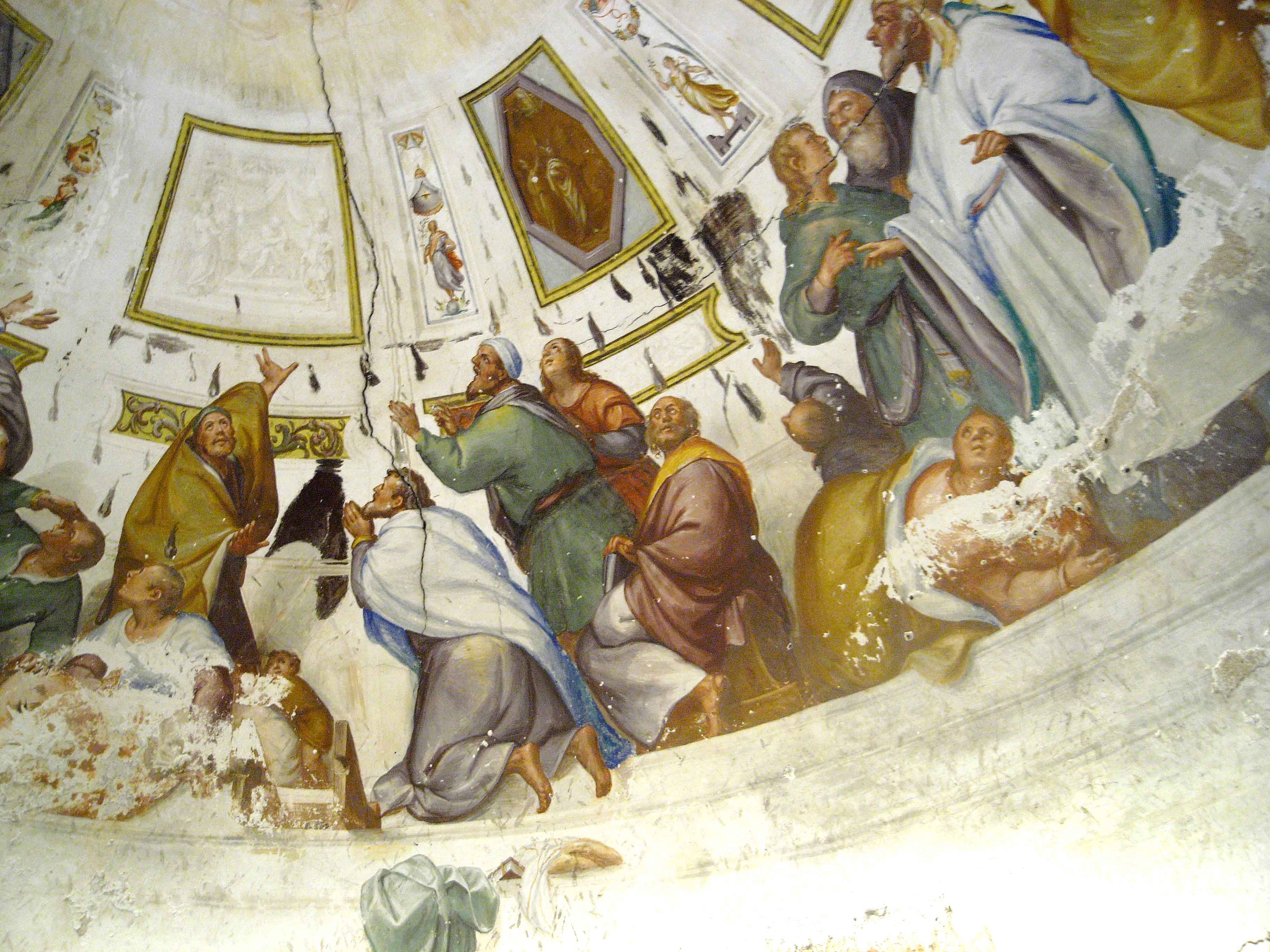 """Blas de Prado, """"Pentecost"""", ca. 1590. Fresco. Toledo."""