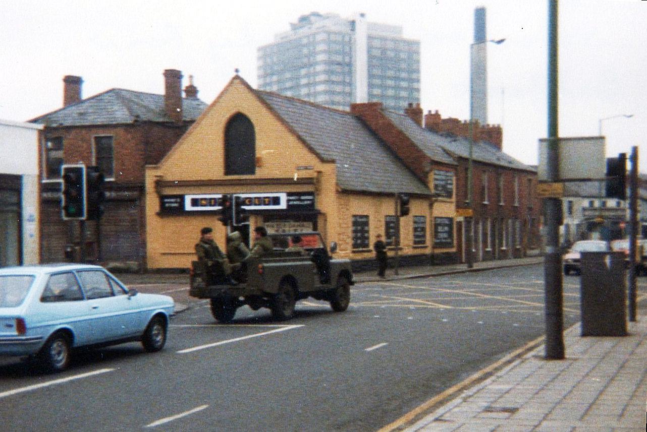 British Army Lorry South Belfast 1981