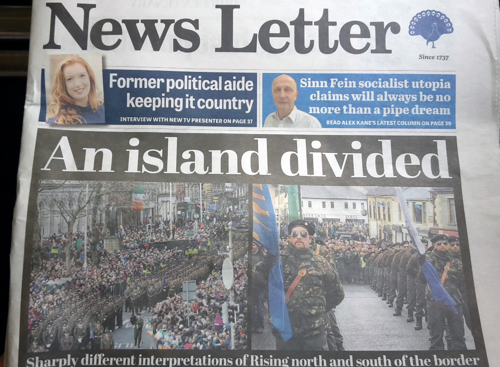 News Letter frontpage saying