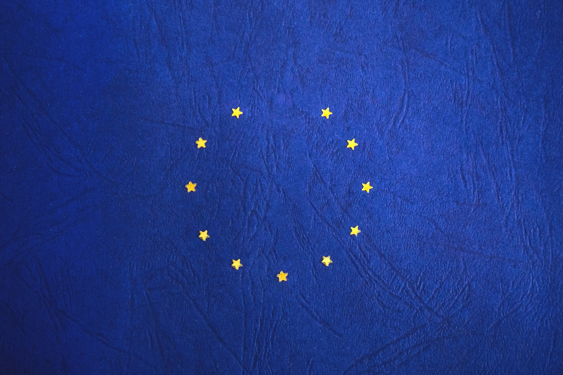 European flag with one star missing